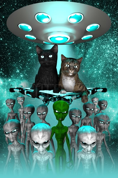 Cats Alien Poster