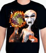 Alien Cat Armageddon T-Shirt or Sweatshirt