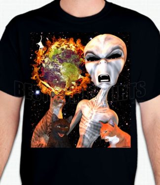 Alien Cat Armageddon T-Shirt or Sweatshirt