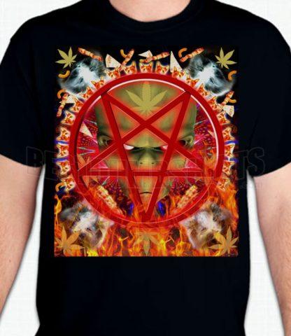 Alien Cat Pentagram T-Shirt or Sweatshirt