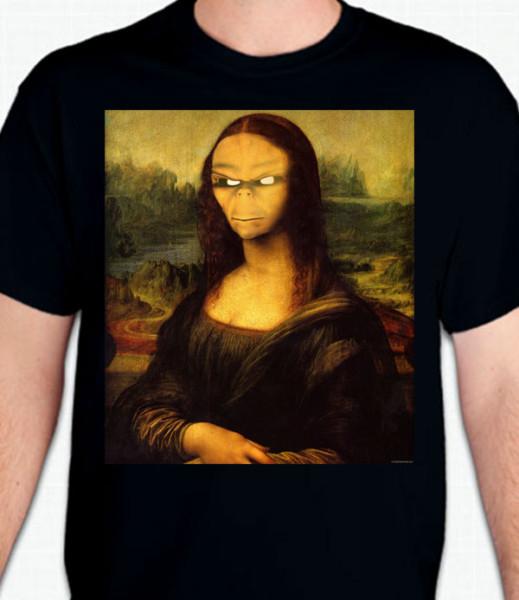 Alien Mona Lisa T-Shirt or Sweatshirt