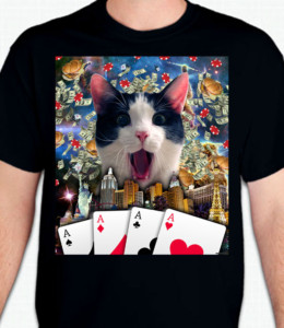 Lucky Aces Cat T-Shirt or Sweatshirt